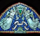 Angel Stained Glass Painted