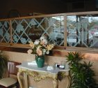 Sandblasted Grapevine Privacy Glass Wall, Restaurant Blue Bell, PA