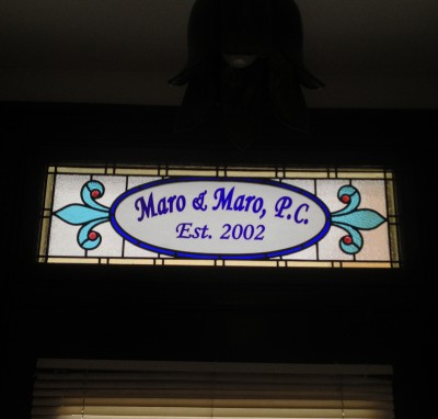 New Stained Glass Transom -for Law Firm -in Norristown, PA