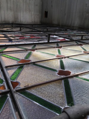 Courthouse Stained Glass Ceiling Completed Pottsville, PA