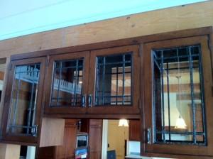 Custom Stained Glass Cabinet Door