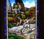 David Goliath Stained Glass
