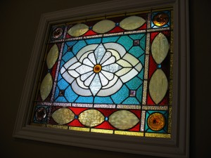 Geometric Stained Glass Window