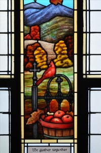 Fall Stained Glass Cardinal
