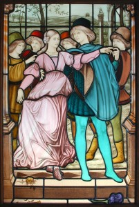 Hand Painted Figural Stained Glass Window
