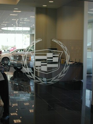 Frosted Logo Cadillac -for Dealership Devon, PA