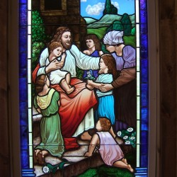 Jesus with the Children Stained Glass Window