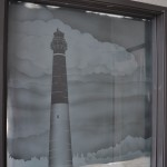Lighthouse Sand Blasted Glass