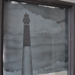 Barnegat Lighthouse Frosted Windows