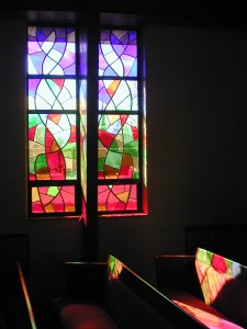 Modern Abstract Stained Glass Light