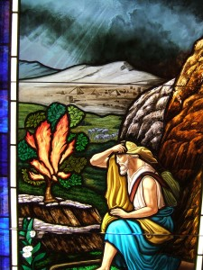 Moses Burning Bush Stained Glass