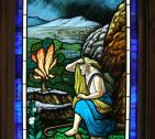 Moses Burning Bush Window