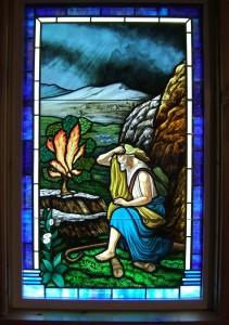 Moses Burning Bush Window