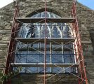 New Vented Stained Glass Glazing System Installation -in Progress