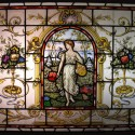 French-Style Painted Glass Window