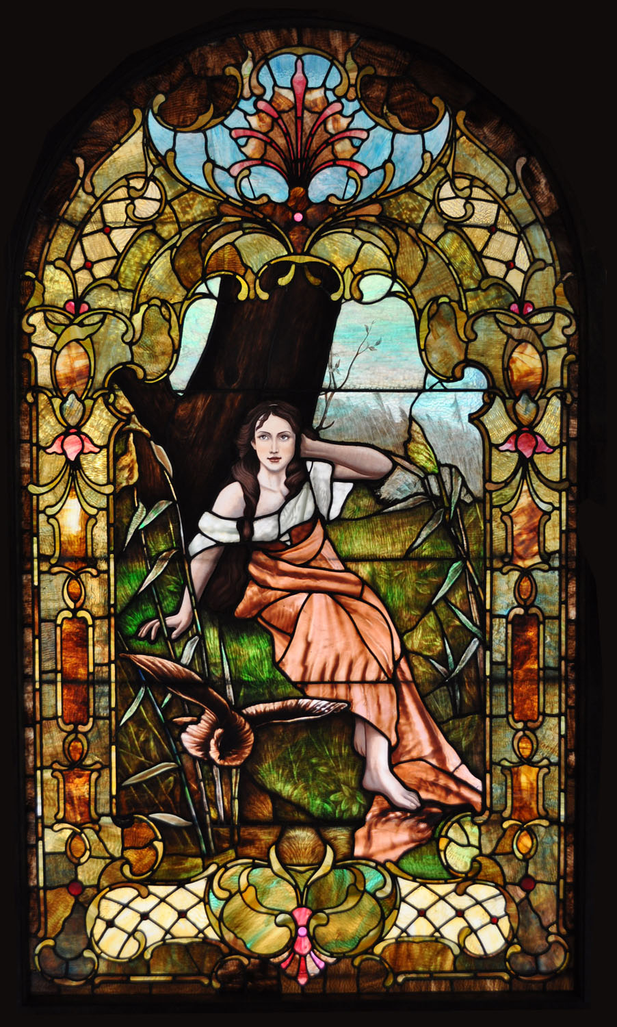 Glass Vs Leaded Stained Glass : Residential stained glass restoration castle studio