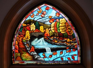 Painted Landscape Stained Glass