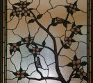 New Stained Glass Window Dogwood Goldfinch