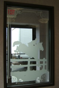 Sand Blasted Equestrian Panel