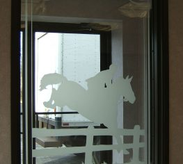 Sand Blasted Equestrian Panel