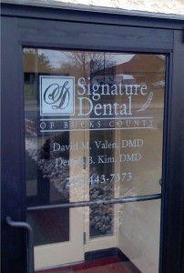 Sandblasted Front Door -for Dentist Office -in Warminster, PA