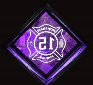 Sandblasted design -for Horsham, PA Fire Department