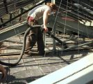 Leaded Glass Ceiling Maintenance Glen Foerd Mansion, Philadelphia, PA
