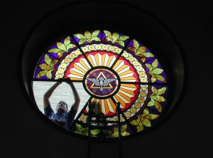 Stained Glass Installation