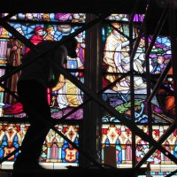 Stained Glass Restoration at Chestnut Hill College