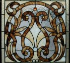 Victorian Jeweled Stained Glass Window