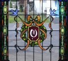 Hand Painted Stained Glass Door