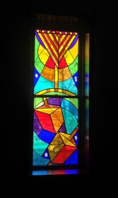 Glazier Jewish Center Stained Glass Designed -by Mordechai Rosenstein
