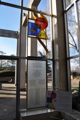 Metal/ Glass Sculpture Designed -by Mordechai Rosenstein, Keneseth Israel, Elkins Park, PA