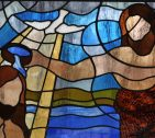 Baptism of Christ Stained Glass, Grace United Methodist Church, Manassas, VA
