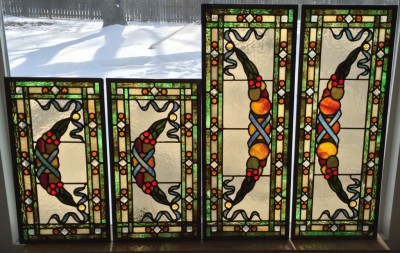 Custom Transoms Designed and Fabricated by Castle Studio for a private residence in Mt. Arlington, NJ