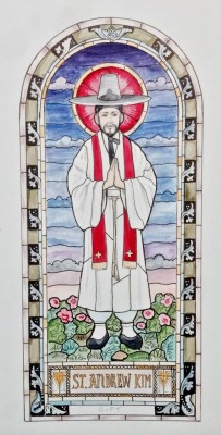 Castle Studio Stained Glass Window Design- for a church in Staten Island, NY