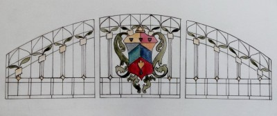 Castle Studio Stained Glass Window Design- for a residence in Orlando, Florida