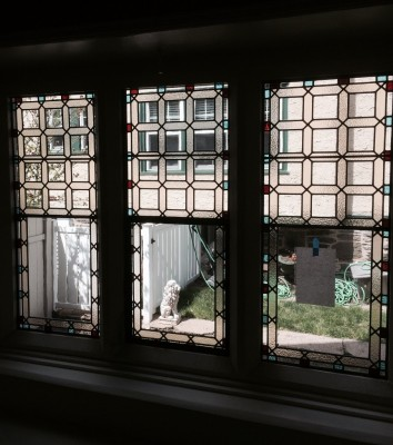 Fully restored stained glass windows - residence in Glenside, PA