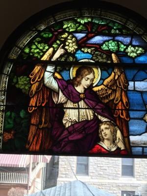 Stained Glass Restoration -  Guardian Angel Window, Manayunk, PA