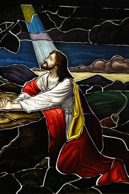 Jesus Painted Stained Glass - Pre-Lead Caming