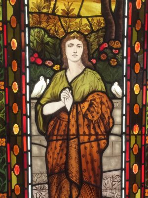 Lady Window - Stained Glass Conservation by Castle Studio, Residence in Warrington, PA